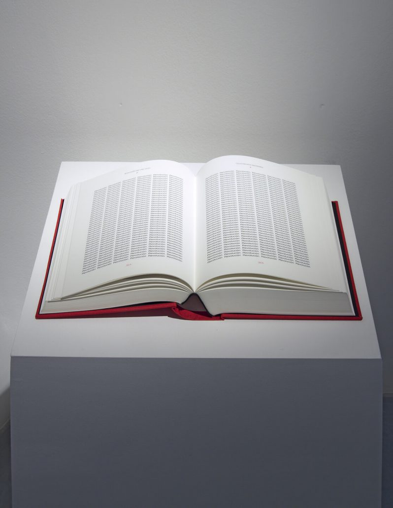 Reynier Leyva Novo - Revolucion: Una y Mil Veces, 2011, book, 11 by 8 by 3 inches closed, 9.5 by 15 by 2.5 inches open, edition of 5
