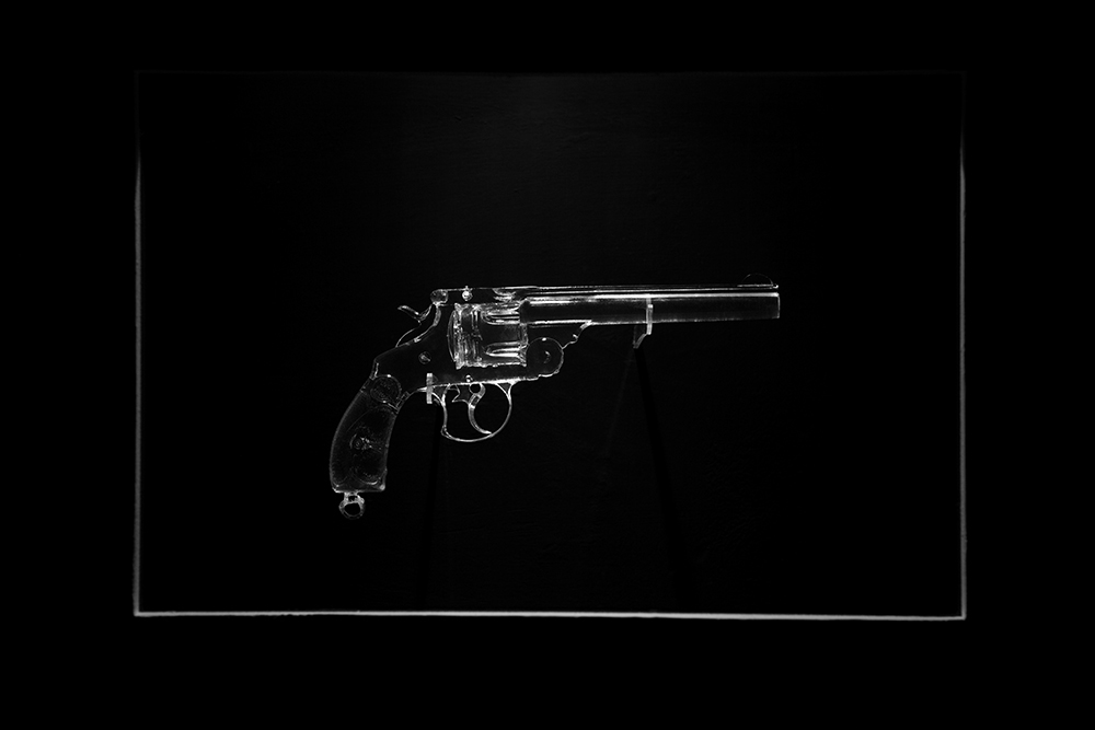 Reynier Leyva Novo - Revolver: Calixto Garcia Iniguez (detail), 2012, cast in polyester resin from original object, 11.5 by 6 by 2 inches, Belonged to Major General Calixto García Iñiguez