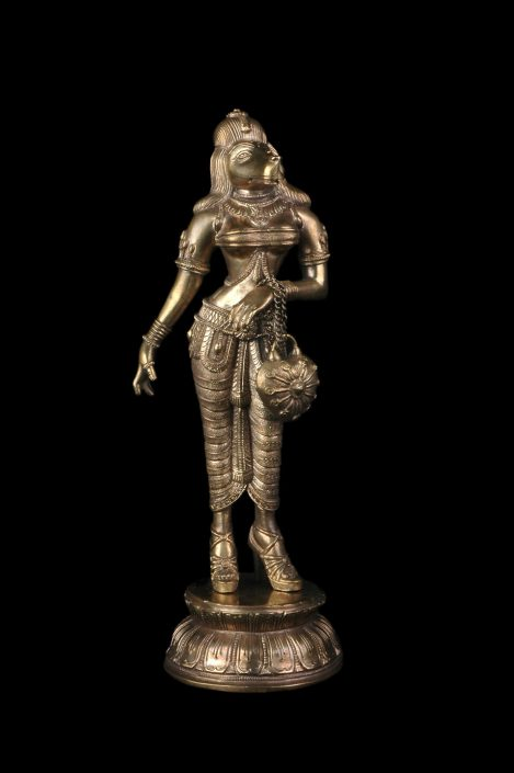 Siri Devi Khandavilli - Diva, 2013, cast bronze, 11.5 by 4 by 4 inches
