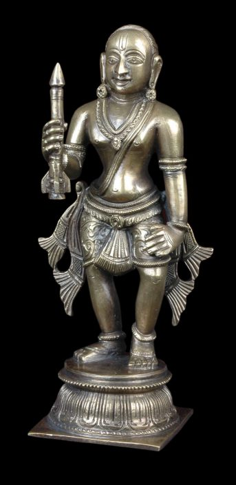 Siri Devi Khandavilli - Figure 5, 2015, cast bronze, 7.25 by 2.25 by 4.5 inches, unique