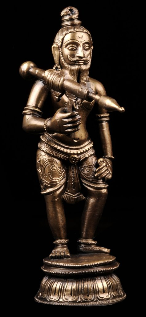 Siri Devi Khandavilli - Not in Anyone's Name: Figure 1, 2015, cast bronze, 7.25 by 2.25 by 4.5 inches, unique