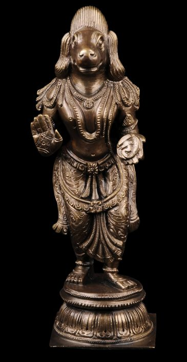 Siri Devi Khandavilli - Figure 2, 2015, cast bronze, 7.25 by 2.25 by 4.5 inches, unique