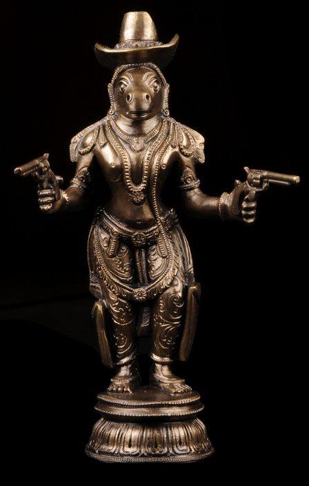 Siri Devi Khandavilli - Figure 3 (SOLD), 2015, cast bronze, 7.5 by 4.25 by 4 inches, unique