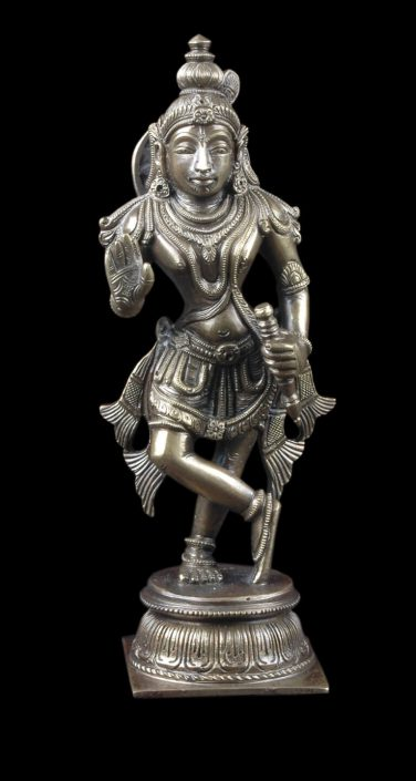 Siri Devi Khandavilli - Not in Anyone's Name: Figure 4, 2015, cast bronze, 7.25 by 2.25 by 4.5 inches, unique