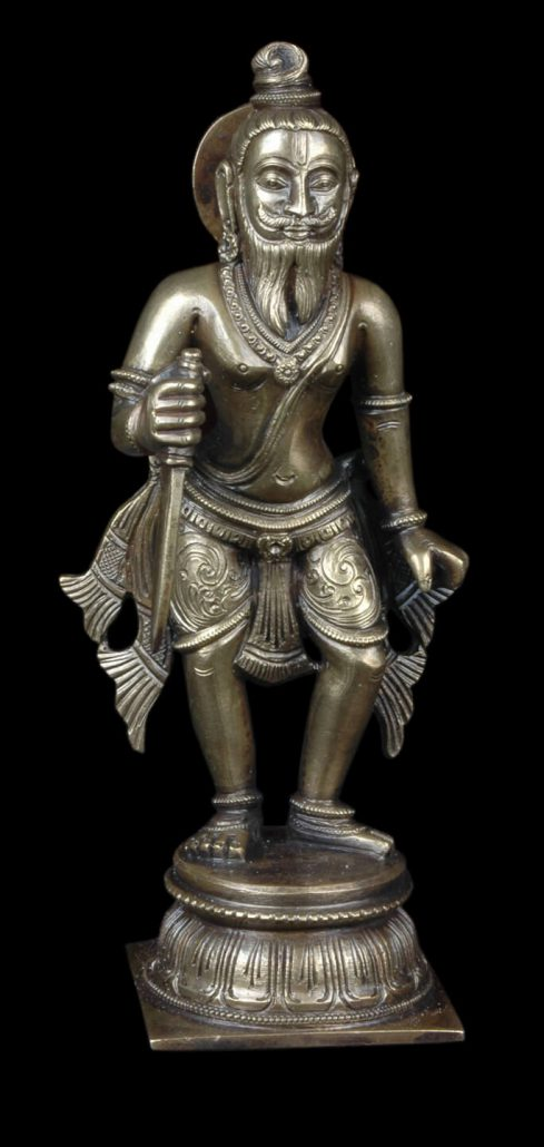 Siri Devi Khandavilli - Not in Anyone's Name: Figure 7, 2015, cast bronze. 7.25 by 2.25 by 4.5 inches, unique