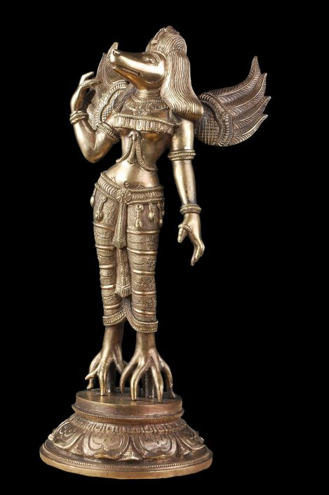 Siri Devi Khandavilli - Pravasini, 2013, cast bronze, 13 by 6.5 by 4 inches
