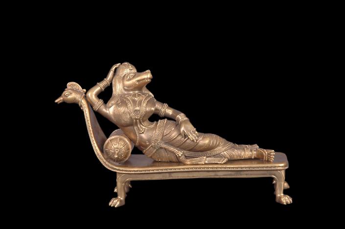 Siri Devi Khandavilli - Shayana Sundari, 2012, cast bronze, 8 by 12 by 4 inches