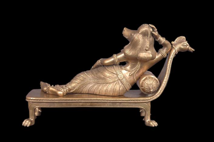 Siri Devi Khandavilli - Shayana Sundari (detail), 2012, cast bronze, 8 by 12 by 4 inches