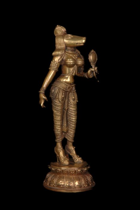 Siri Devi Khandavilli - Darpana Sundari, 2012, cast bronze, 12 by 5 by 5 inches