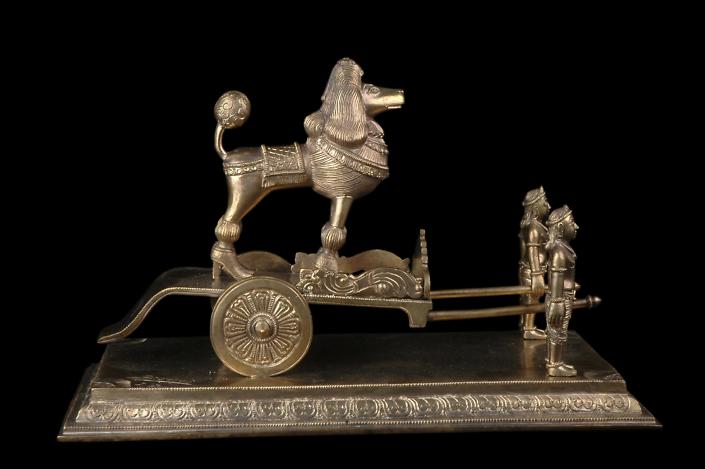 Siri Devi Khandavilli - Vilasa Viharini (detail), 2013, cast bronze, 8.25 by 13 by 6.5 inches