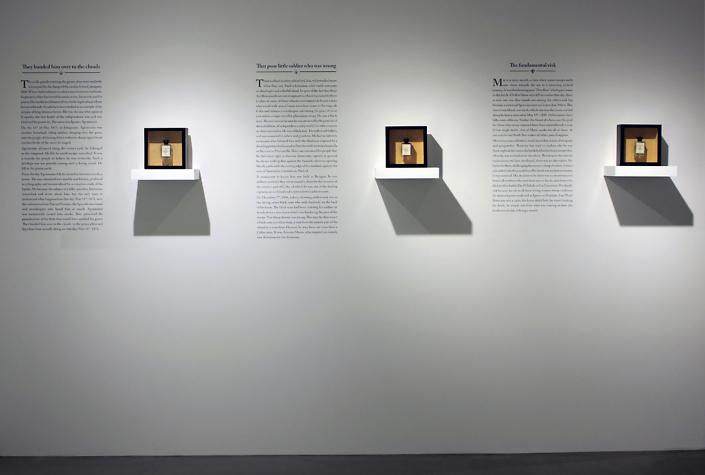 Los olores de la guerra (The Scents of War) Installation view