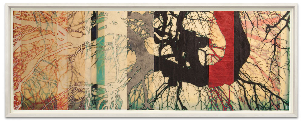 Mike & Doug Starn - hastikdel (SOLD), 2015, ultrachrome inkjet prints on Kozo paper with varnish, 21.7 by 52.1 inches