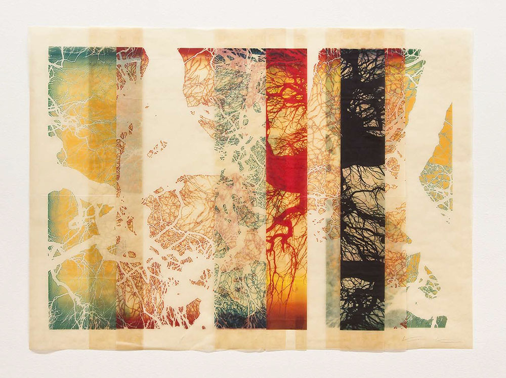 Mike & Doug Starn - The No Mind Not Thinks No Things taptar, 2013, archival inkjet prints on Kozo paper and varnish, 28.5 by 37.5 inches, edition of 3