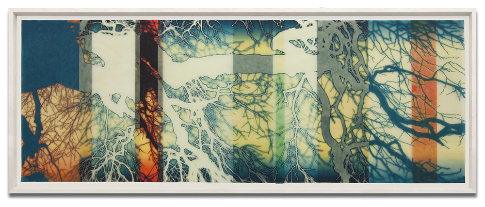 Mike & Doug Starn - toktokklok (SOLD), 2015, ultrachrome inkjet prints on Kozo paper with varnish, 21.7 by 52.1 inches