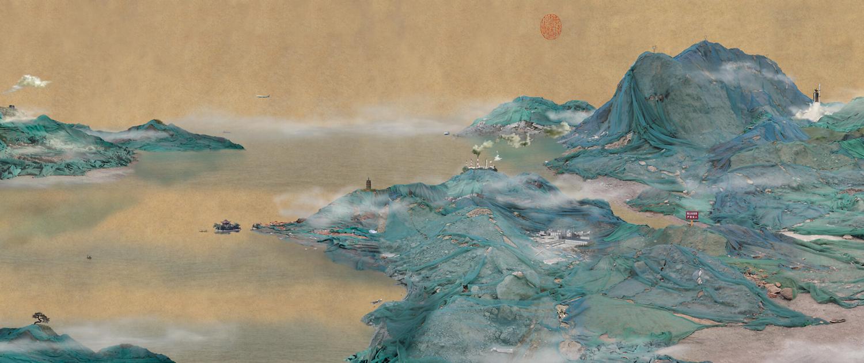 Yao Lu, Landscape Part III - Dwelling in the Mount Fuchun