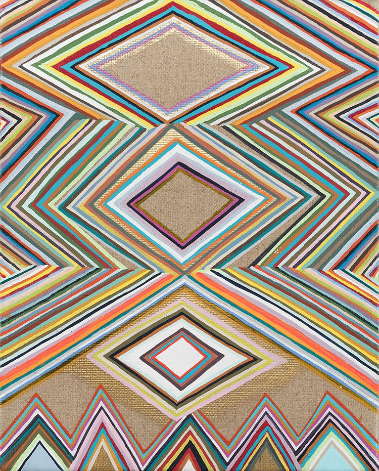 Carrie Marill - Meditation (detail), 2017, acrylic on linen, 10 by 8 inches