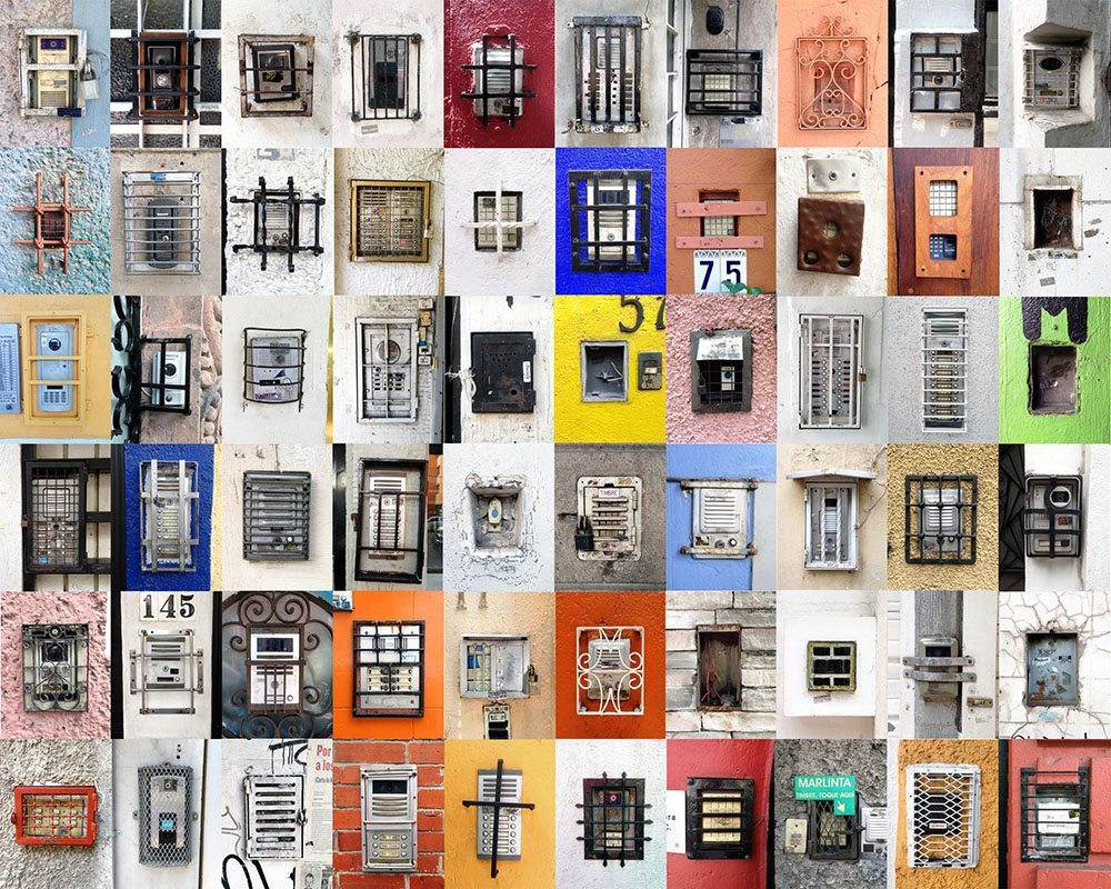Luis Molina-Pantin - Untitled (Doorbells from Mexico) / Sin titulo (Timbres de Mexico), 2014-2016, c-prints, 60 images, 10 by 8 inches each