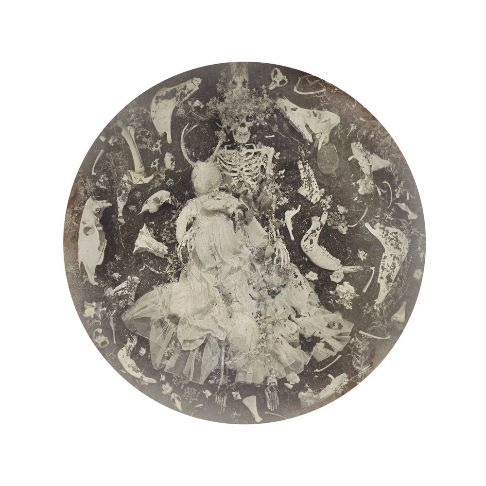 Kahn/Selesnick - Bone Augury, 2017, archival inkjet print, 10 inch diameter (22 by 17 inch paper size), edition of 5