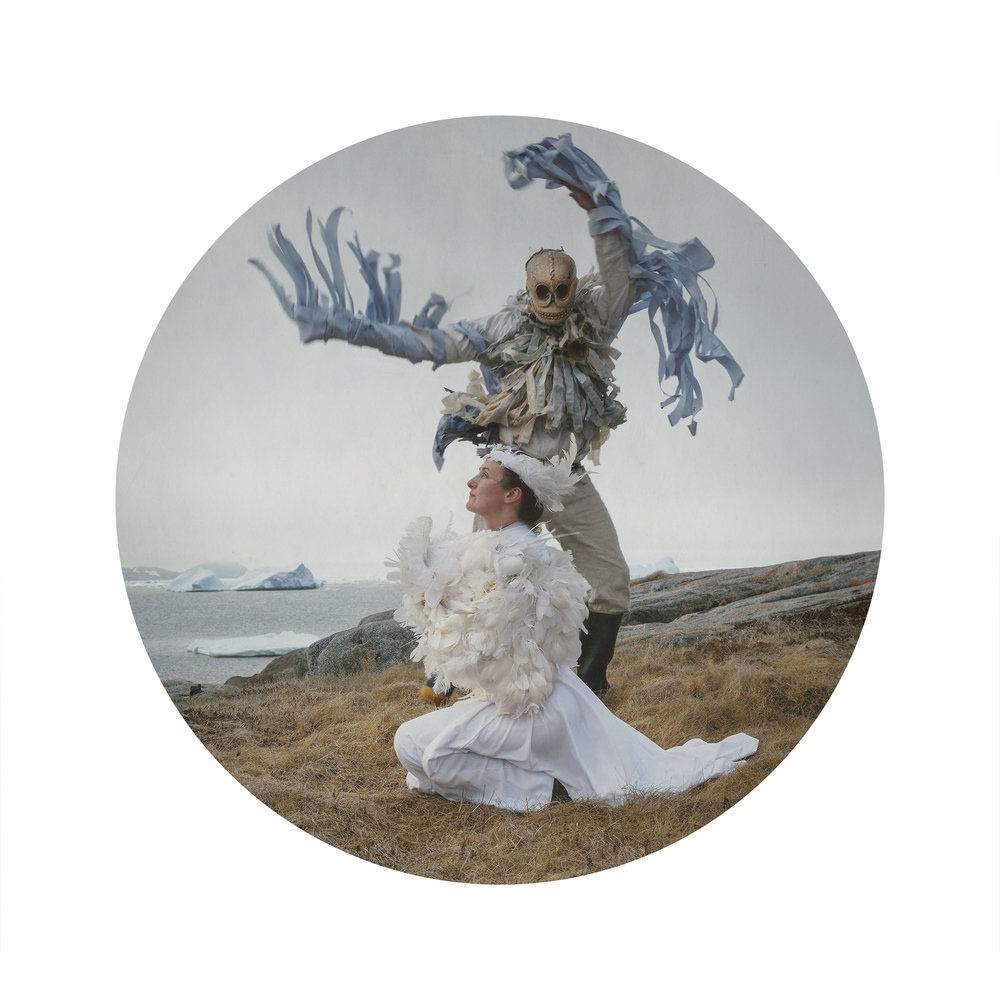 Kahn/Selesnick - Death and the Bird, 2017, archival inkjet print, 10 inch diameter (22 by 17 inch paper size), edition of 5