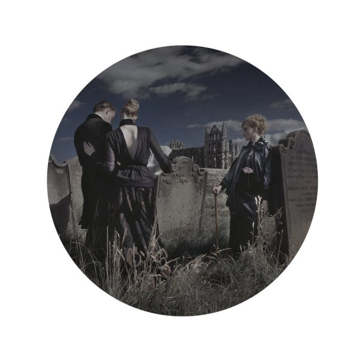 Kahn/Selesnick - Graveyard, 2017, archival inkjet print, 10 inch diameter (22 by 17 inch paper size), edition of 5