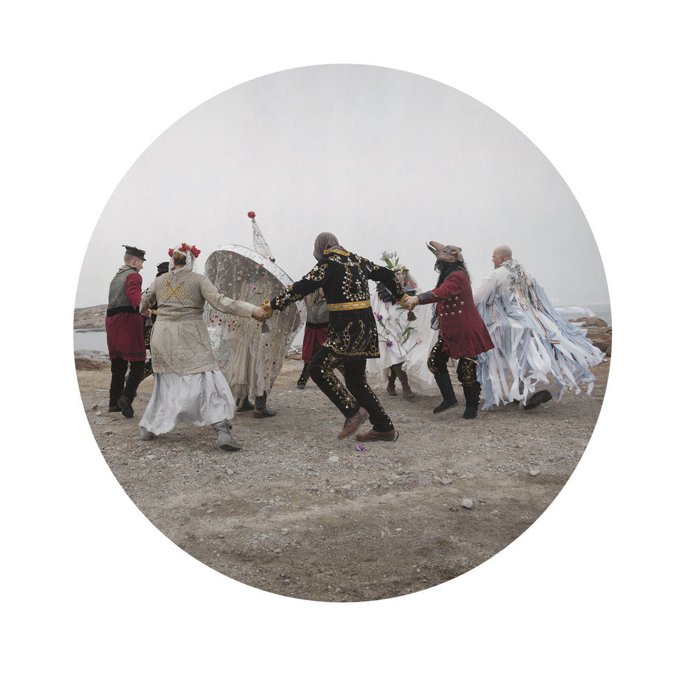 Kahn/Selesnick - Hobby Horse Parade, 2017, archival inkjet print, 10 inch diameter (22 by 17 inch paper size), edition of 5