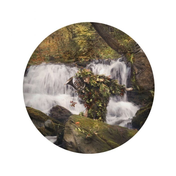 Kahn/Selesnick - Waterfall, 2017, archival inkjet print, 10 inch diameter (22 by 17 inch paper size), edition of 5