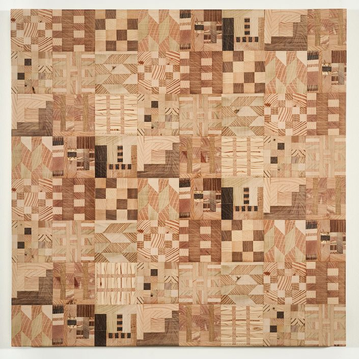 Untitled (Wooden Kente Quilt 10)(SOLD)