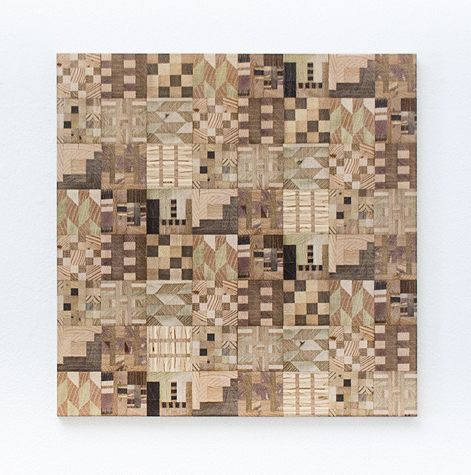 Untitled (Wooden Kente Quilt 10)