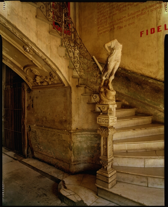 Michael Eastman - Fidel's Stairway, 1999, photograph, available in three sizes: 37 by 46 inches, 48 by 60 inches, and 72 by 96 inches