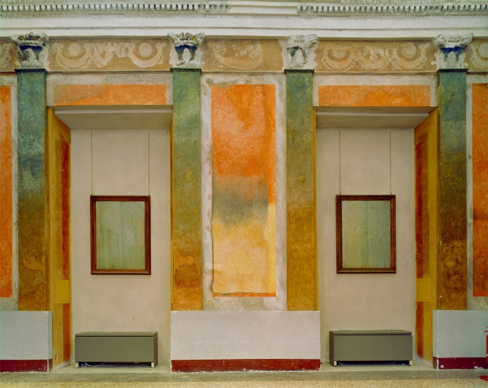 Michael Eastman - Fresco Palazzo, Europe, photograph, available in three sizes: 37 by 46 inches, 48 by 60 inches, and 72 by 96 inches