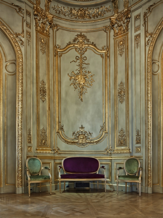 Michael Eastman - Parisian Salon #2, Buenos Aires, photograph, available in three sizes: 37 by 46 inches, 48 by 60 inches, and 72 by 96 inches