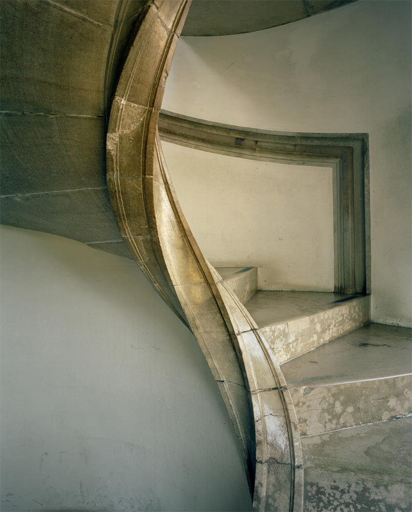Michael Eastman - Palace Stairway, Lisbon, photograph, available in three sizes: 37 by 46 inches, 48 by 60 inches, and 72 by 96 inches
