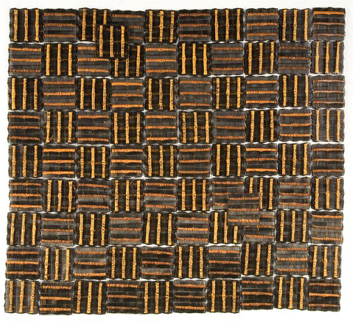Sonya Clark - Plain Weave (SOLD), 2008, combs and thread, 42 by 47.5 inches