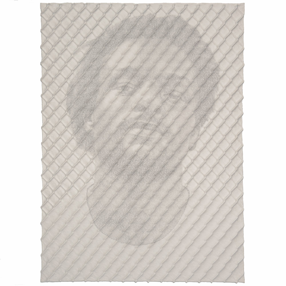 Ben Durham - Chain-link Fence Portrait (John) (SOLD)