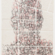 Ben Durham - Untitled 11 (Graffiti Map), 2011, ink and graphite on cut handmade paper, 28 x 20 inches unframed