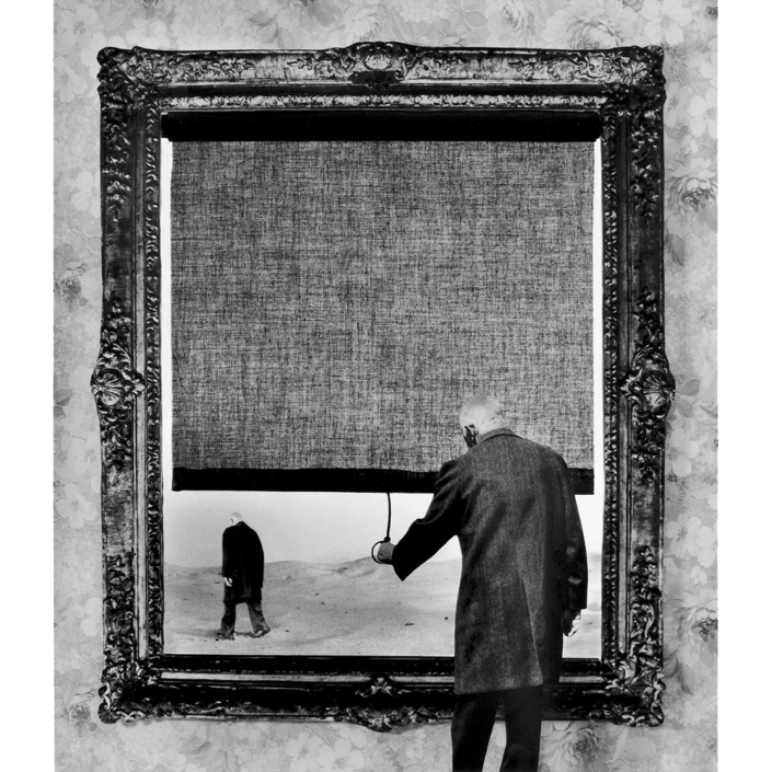 Gilbert Garcin - 121 - Fin (The end), 1999, gelatin silver print, 12 by 8 inches, 16 by 12 inches, or 24 by 20 inches