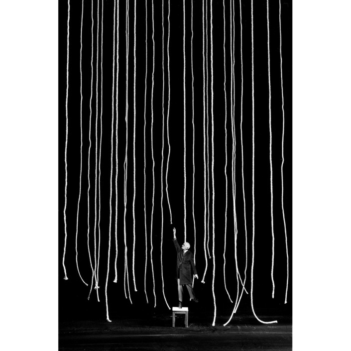 Gilbert Garcin - 291 - La convoitise (Covetousness), 2005, gelatin silver print, 12 by 8 inches, 16 by 12 inches, or 24 by 20 inches