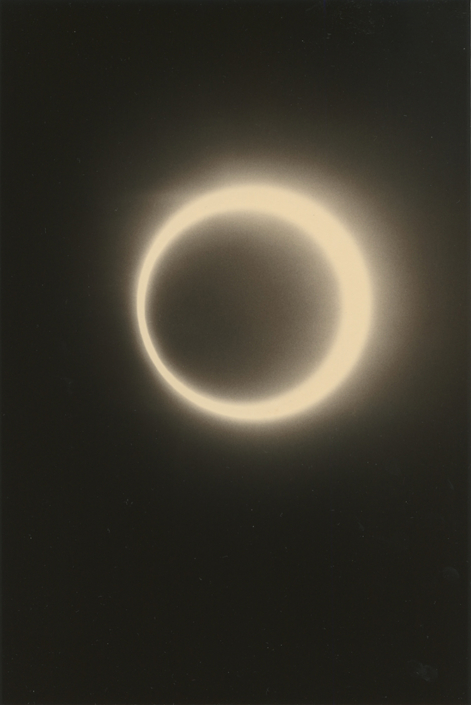 Masao Yamamoto - 1628, from Kawa = Flow, 2014, gelatin silver print with mixed media, 9.5 x 6.5 inches