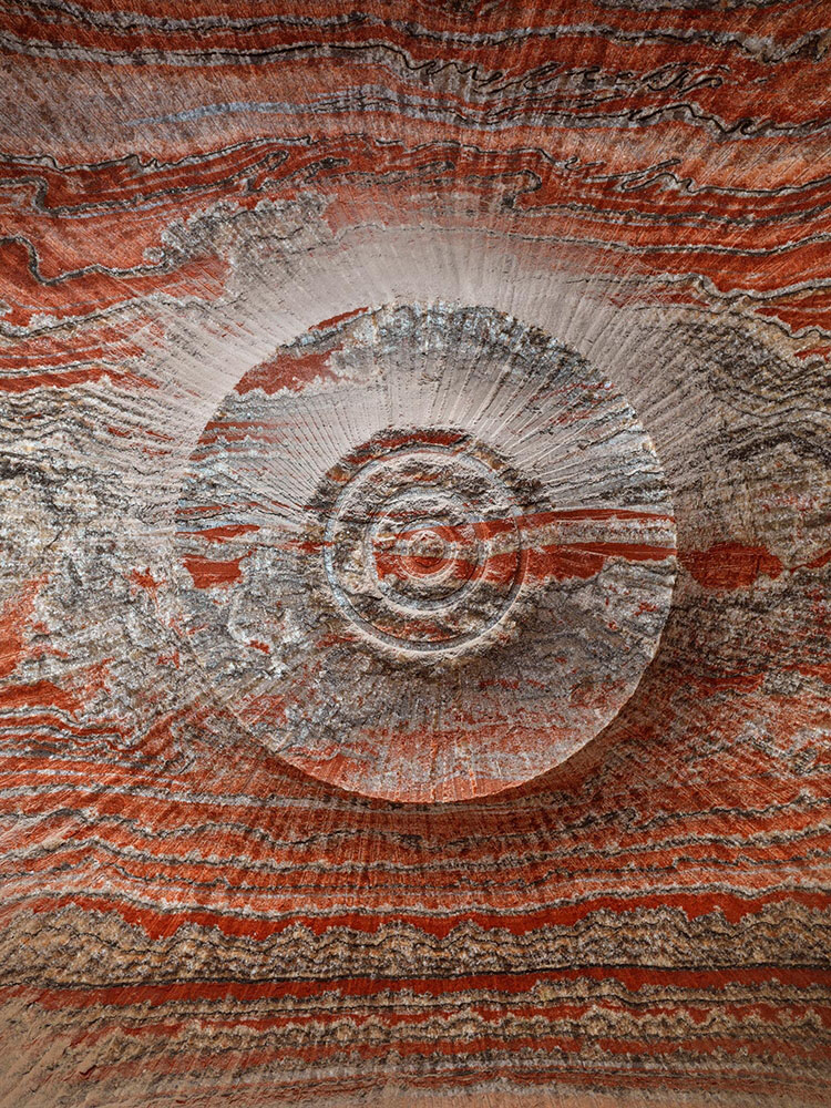 "Edward Burtynsky - Uralkali Potash Mine #3, Berezniki, Russia, 2017, Pigment inkjet print, 52"" x 39"" unframed, 53.5"" x 40.5"" framed, edition of 9"