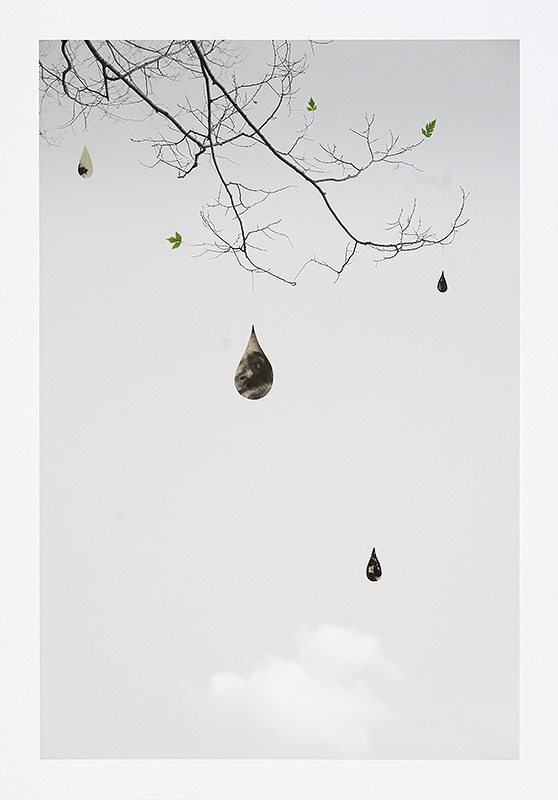 "Marie Navarre - dark debt, 2021, archival digital print, film positives, Pictorico, colored pencil, PVA, Rives BFK, 24.5"" x 17"" unframed, 26.5"" x 19"" framed, edition of 3"